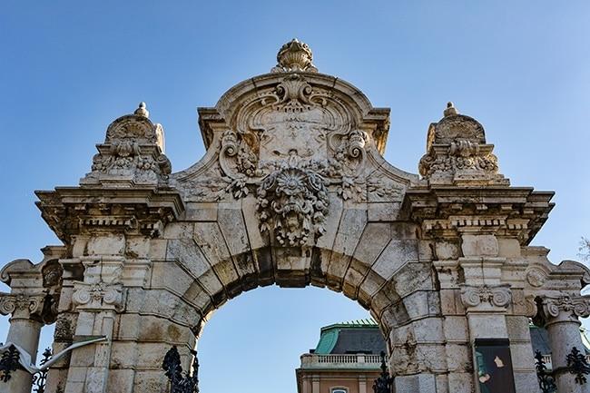 The gate to the Royal Palace or Budavári Palota