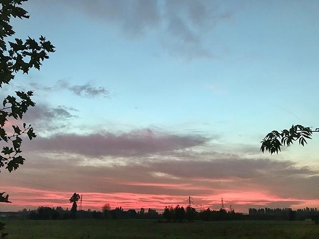 Nice sky - looks good for our walking tour of Brescia tomorow