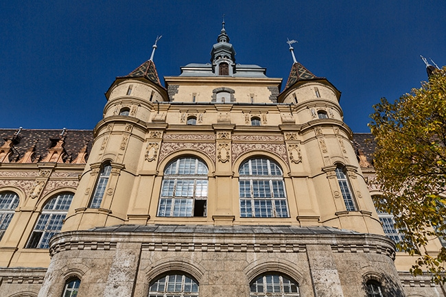 The castle was built for the 1896 millennial series of celebrations in order to provide a three dimensional representation of thousand years of national architecture.