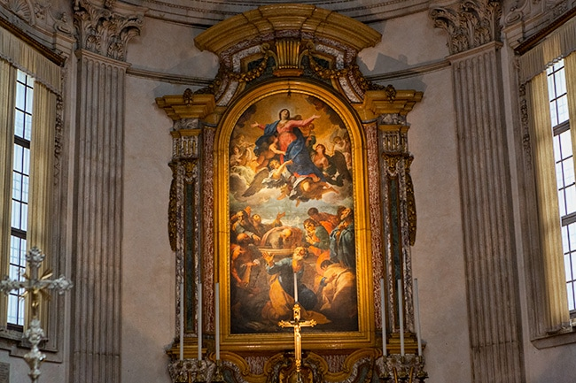 Painting behind the main altar