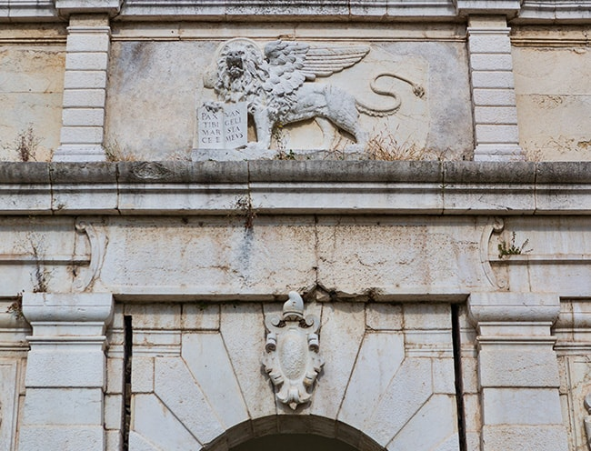 Over the entrance - The Lion of Venice