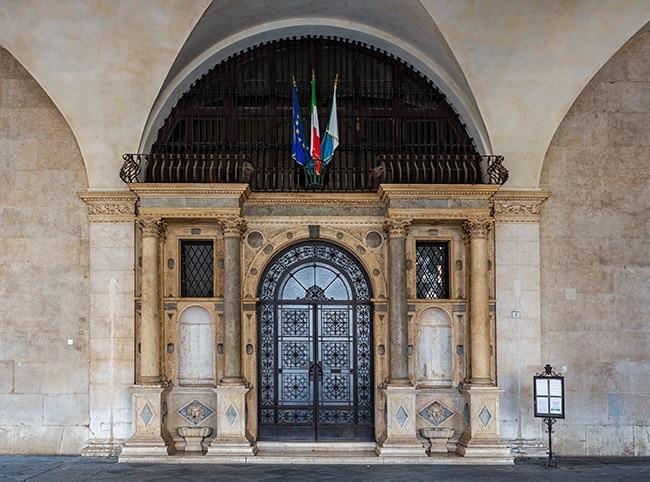 Entrance of the Palazzo della Loggia