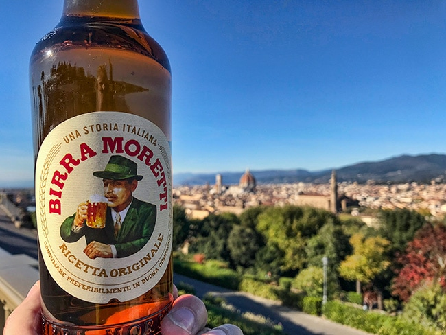 The second day our sundowner was a Birra Moretti