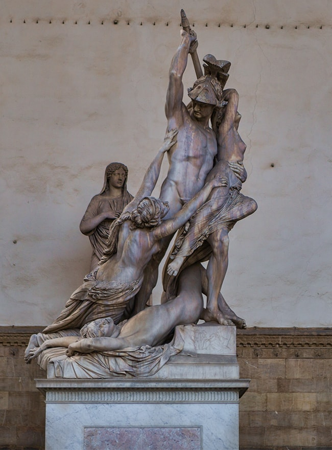The Rape of Polyxena by Pio Fedi from 1865