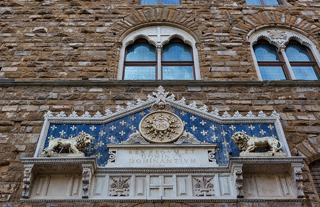 The entrance of the Palazzo Vecchio