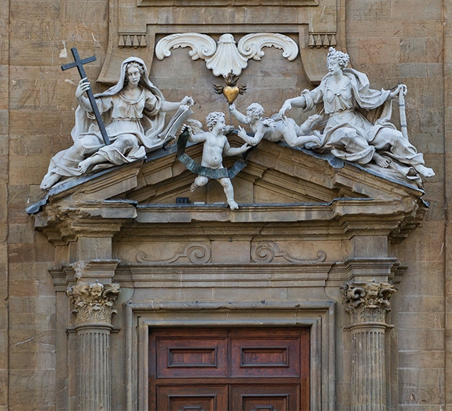 Detail above the door of the Complesso di San Firenze