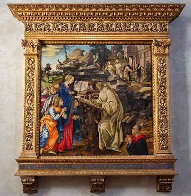 Apparition of the Virgin to Saint Bernard from Filippino Lippi