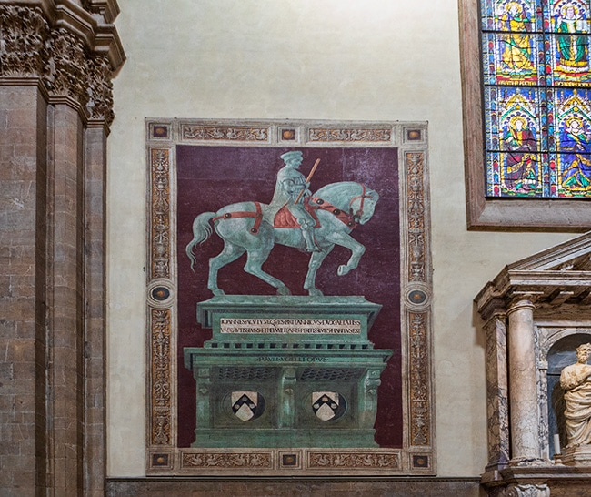Equestrian monument of John Hawkwood (Giovanni Acuto) by Paolo Uccello