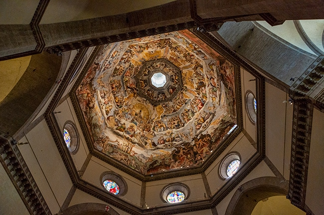 The famous dome - took 16 years to build it alone. The painting is 4000 square meter big!