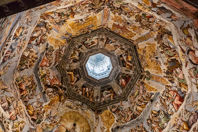 Brunelleschi's dome with a fresco of the Last Judgement by Vasari