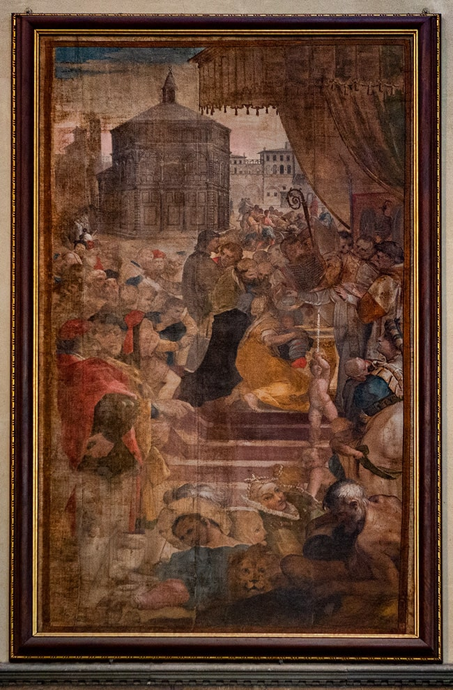 One of the many paintings