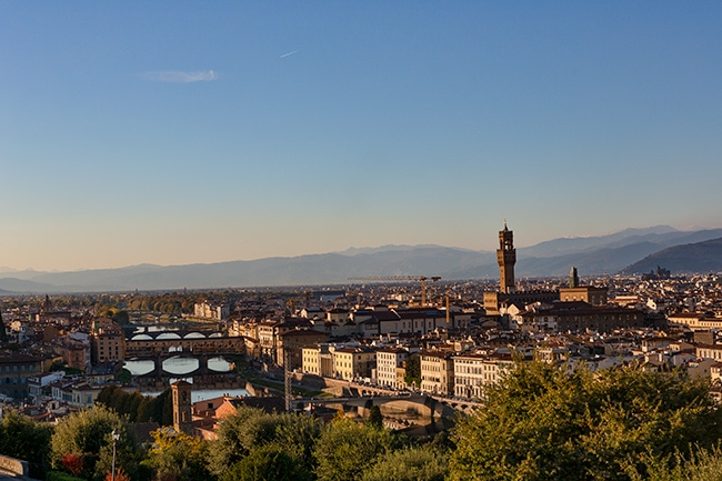 View from the Piazzale Michelangelo