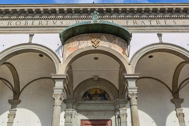 The SS. Annunziata di Firenze at the Piazza della Santissima Annunziata