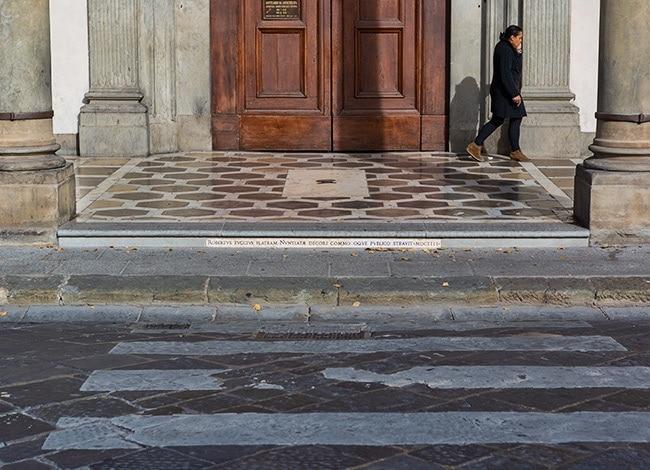 The door of the SS. Annunziata di Firenze