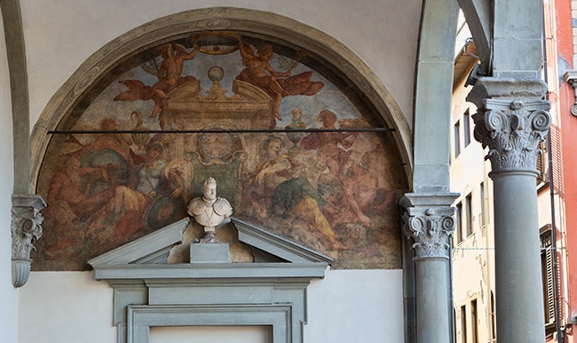 Detail from the Ospedale degli Innocentii