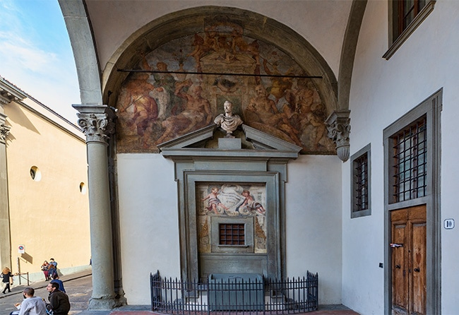 Detail from the Ospedale degli Innocenti