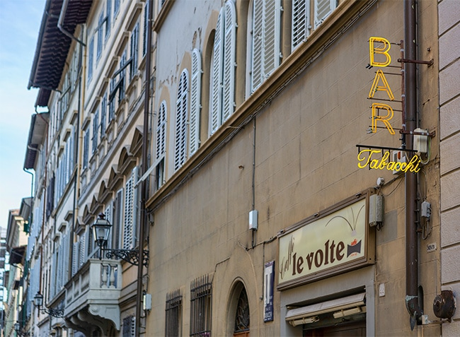 A bar at #8 Via Gino Capponi