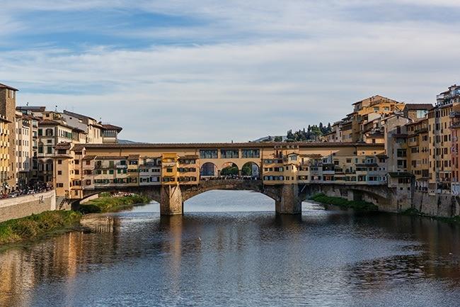 The most famous bridge in town: Ponte Vecchio