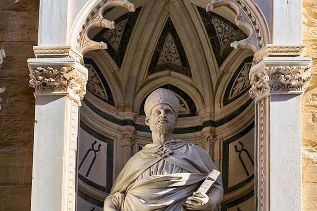 Detail at the Church and Museum of Orsanmichele