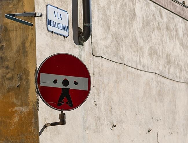 No Entry Pillory