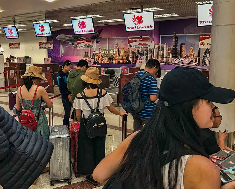 At Thai Lion Air they have Chinese tourists