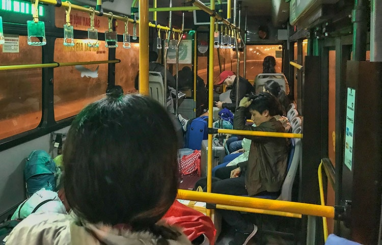 The airport bus to downtown Hanoi. Free WiFi and only 1,15€ at the time of travelling