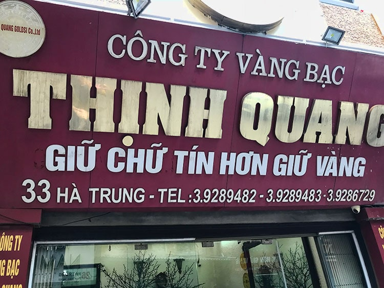 This is my favourite place if you ever in need of a money changer in Hanoi