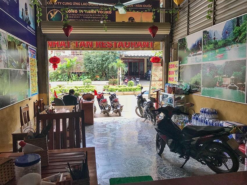 The bike parking - Vietnam style inside the hotel