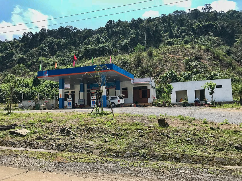 A new gas station along the way