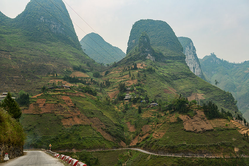 Road and Mountains in Vietnam