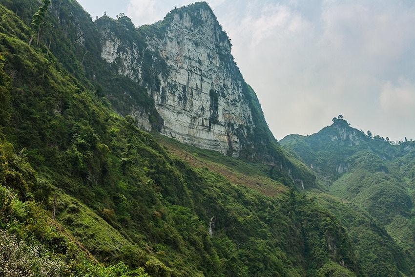 White cliffs at the Đồng Văn Karst Plateau