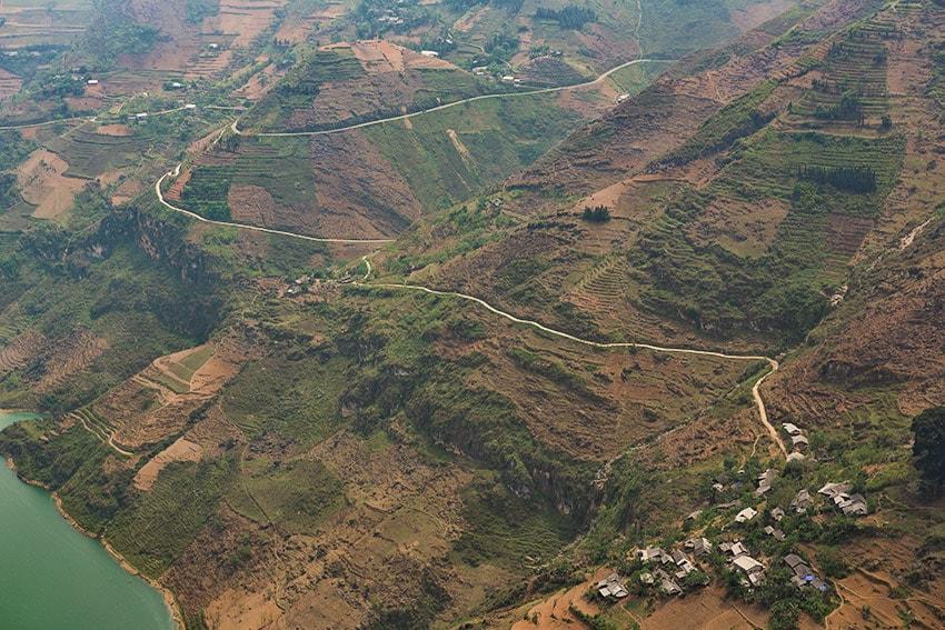 The winding road in Vietnam