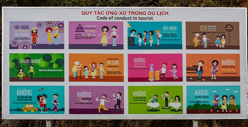 Code of conduct for tourists in Vietnam