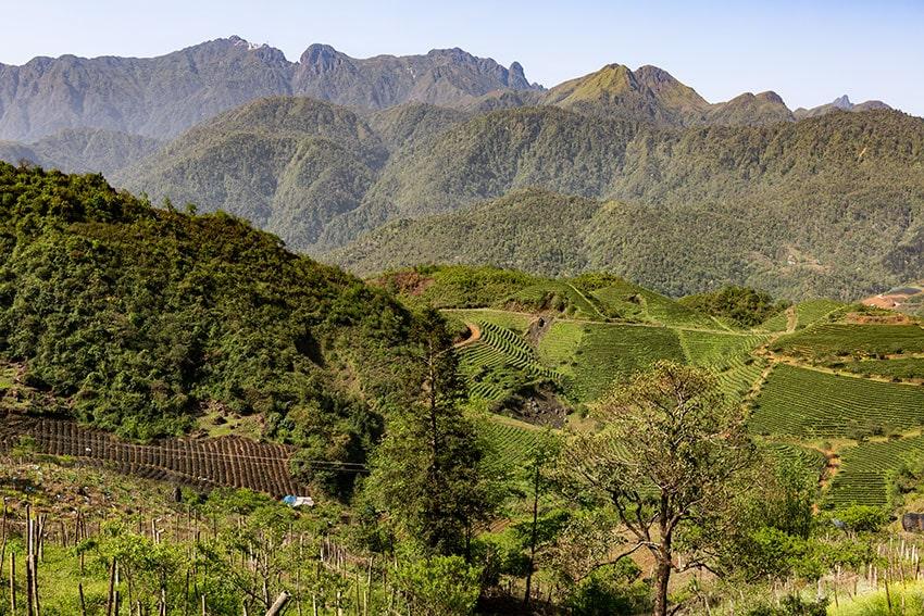 Mountains and Farmland