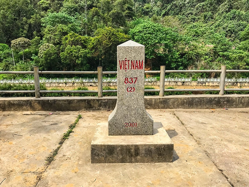 Vietnamese border marker