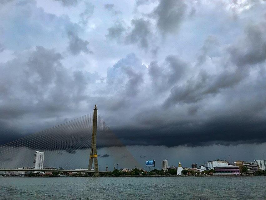 Clouds over Rama VIII Bridge