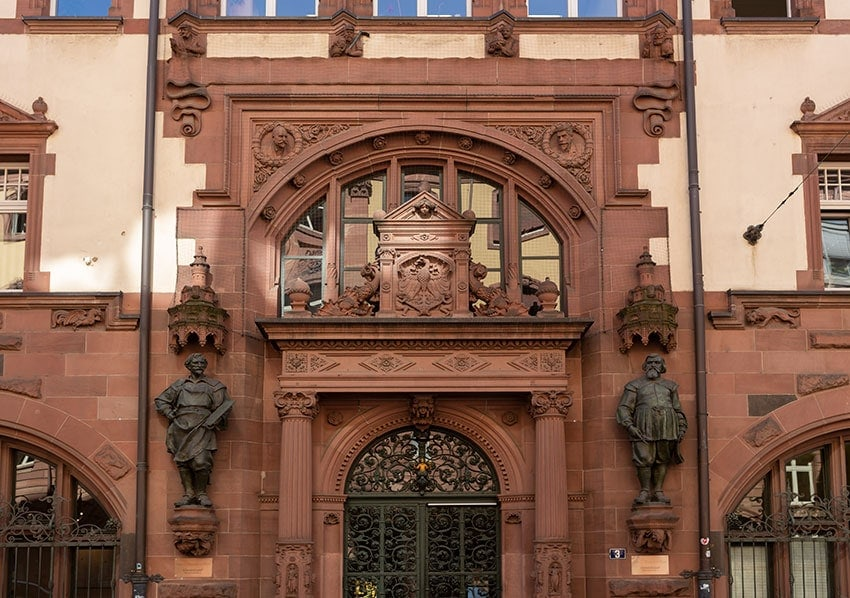 A Entrance to the Town Hall Frankfurt
