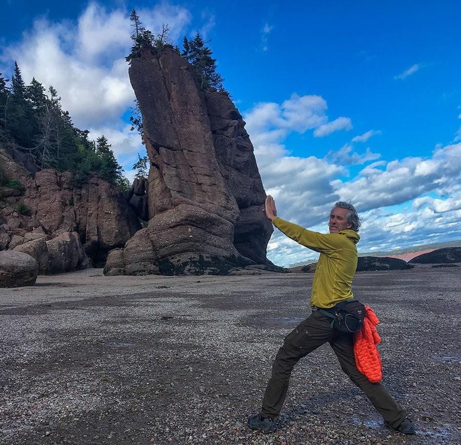 Man pushes Rock