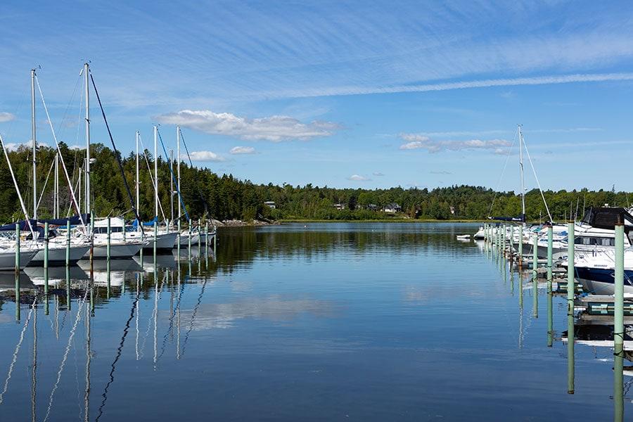 Marina in Saint John, New Brunswick