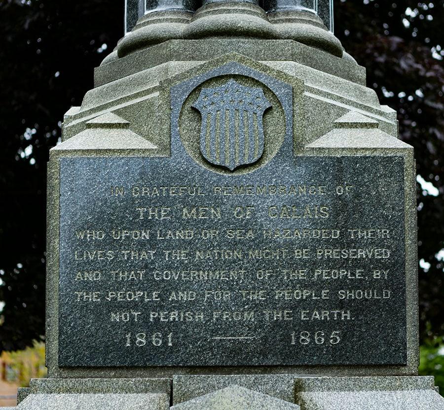 Memorial in Calais, Maine, United States