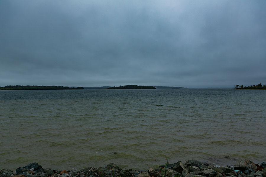 View over Cobscook Bay in Eastport, Maine