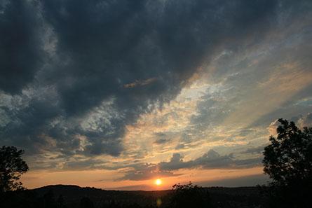 Sunset back Home