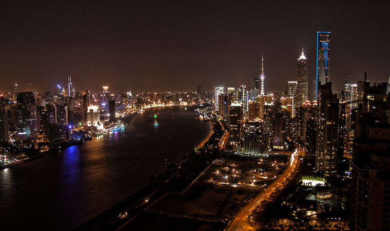 Night view from my Place in Shanghai 1
