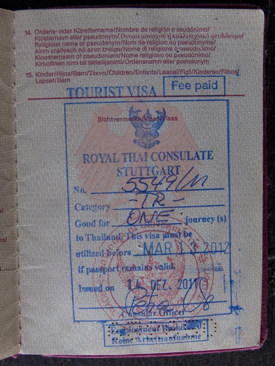 how to get a thai visa in halifax