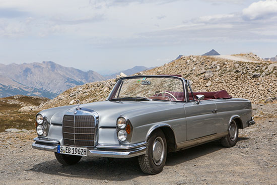 France and Italy with the Mercedes 220 SEB