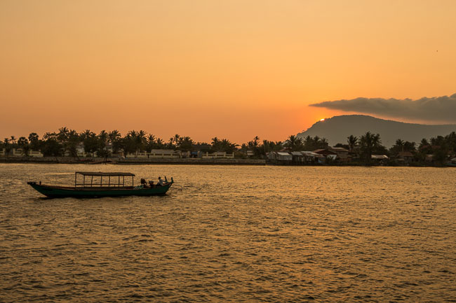 Sunset Cruise on the River in Kampot
