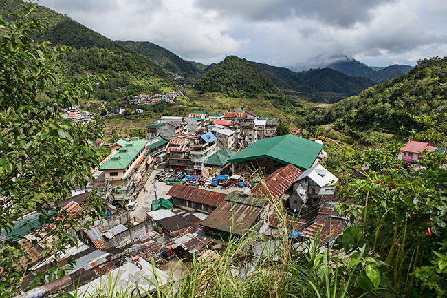 Banaue the small Village in the North of the Philippines